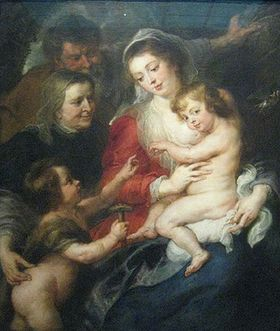 The_holy_family_with_elisabeth_and_