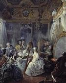 Marie Antoinette Sitting for a Portrait in Her Bedroom Jacques Fabien Gautier d'Agoty ジャン・バティスト・ゴーティエ・ダゴティ