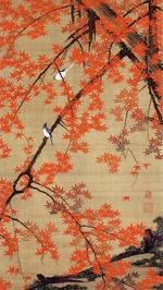 『紅葉小禽図』~「花鳥-愛でる心、彩る技 <若冲を中心に>」第5期:8月12日(土)~9月10日(日)